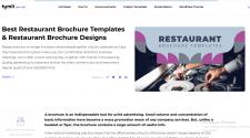 Restaurant Brochure Templates. Restaurant Bro
