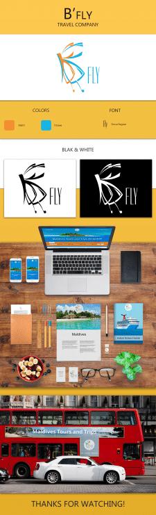 B'fly лого и фирменный стиль