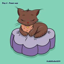 Sleepy cat for chilltober challenge