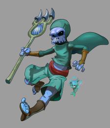 Бессмертный рыбак с острогой