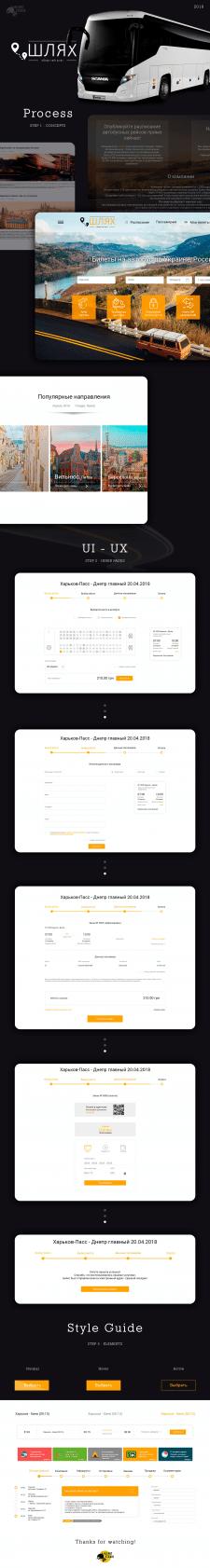 Сайт для онлайн сервиса поиска билетов на автобус