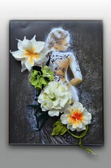 Цветы из шерсти - Броши. Техника: мокрое валяние