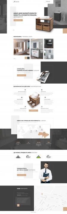 Дизайн лендинга производителя мебели