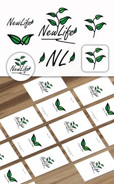 Фирменный стиль и визитки для - New Life