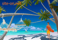 Пляж, гамак. Для сайта.