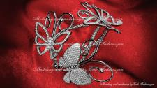 Van Cleef Arpels Butterfly bracelet rendering.