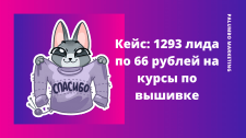Кейс: 1293 лида по 66 рублей