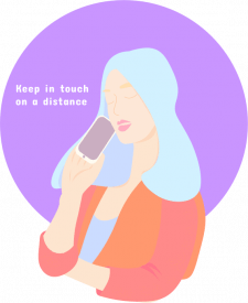 "Vector Illustration ""Stay home"""