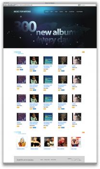 Дизайн для сайта Musicfornations.com