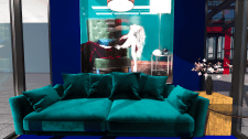Интерьер комнаты для показа одежды