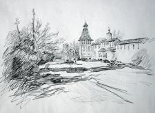 Зарисовка пейзажа карандашом