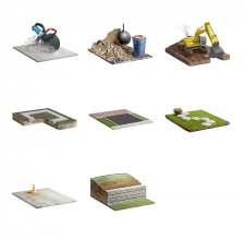 Иконки-иллюстрации для строительного сайта