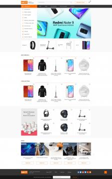 Дизайн интернет магазина Xiaomi