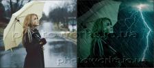 Замена фона, фото коллаж, цветокоррекция