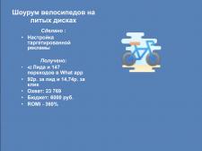 Шоурум велосипедов на литых дисках