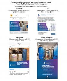 Таргетинг систем водоочистки в FB, VK и Instagram