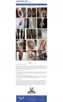 Сайта с идеями для татуировок DuBuddha