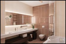 Дизайн интерьера ванной комнаты в плитке Fap