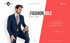 First screen для магазина мужской одежды