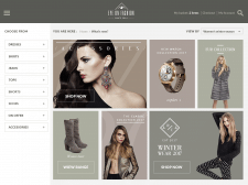 Fashion site UI