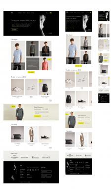 Дизайн главной адаптивного интернет-магазина NK