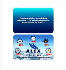 визитка польского предпринимателя. продажа кроссов