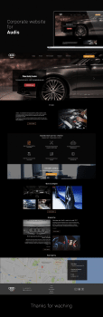 UI/UX корпоративного сайта сервисного центра Audis