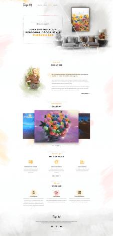 Дизайн главной страницы сайта художницы