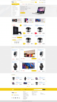 Дизайн интернет-магазина электроники
