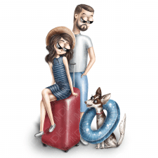 Семейный портрет с собакой