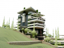 Проект жилого дома пгт Гурзуф АРК 2007г.