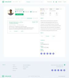 Profile page Coinlancer