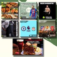 "Instagram-рубрикатор для спорт-кафе ""Tribuna"""