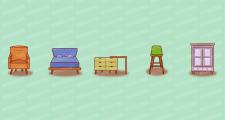Иконки мебель в стиле лофт