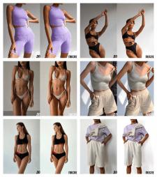 Ретушь женской одежды