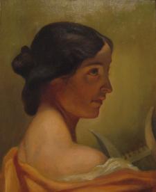 этюд женской головы к картине