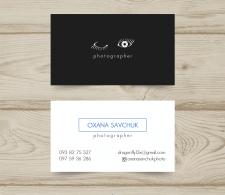 Дизайн визитки. Фотограф