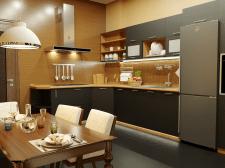 дизайн кухни для троих девушек