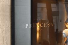 Дверь магазина - логотип PRINCESA