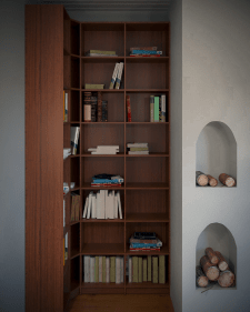 Моделирование и визуализация стеллажа с книгами