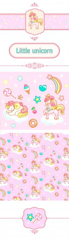 Дитячий візерунок Little unicorn