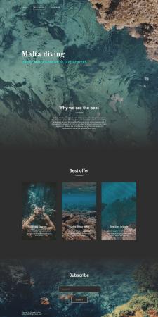 Дизайн сайта для любителей дайвинга на Мальте