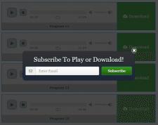 WordPress плагин подписки для прослушивания аудио