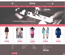 Дизайн интернет-магазина женской одежды