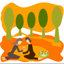 осенний пикник вдвоем