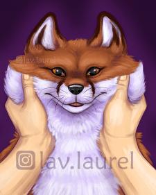 Стилизованный лис, прорисовка шерсти