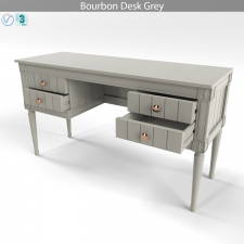 Bourbon Desk, Grey