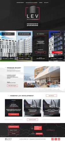 Дизайн сайта (Landing Page) для «LEV Development»