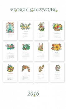 Флористичний Календар - 2016