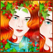 иллюстрация рыжеволосой девушки